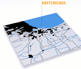 3d view of East Chicago