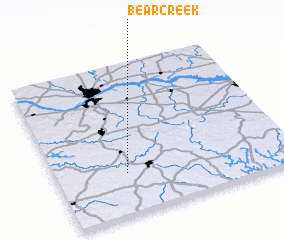 3d view of Bear Creek
