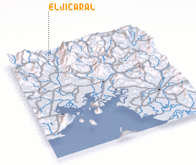 3d view of El Jicaral