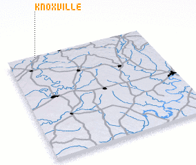 3d view of Knoxville