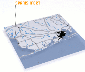 3d view of Spanish Fort