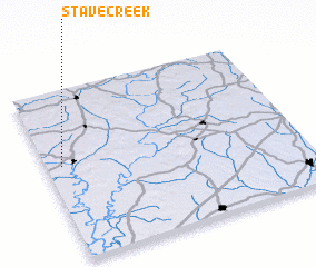 3d view of Stave Creek
