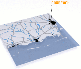 3d view of Cox Beach