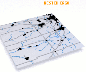 3d view of West Chicago