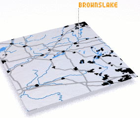 3d view of Browns Lake