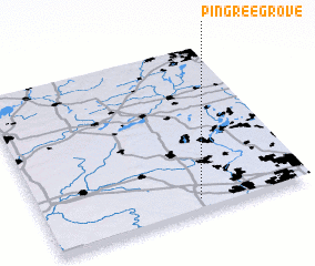 3d view of Pingree Grove