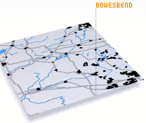 3d view of Bowes Bend
