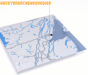 3d view of Swasey Branch Barquedier