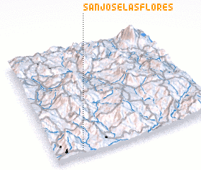 3d view of San José Las Flores