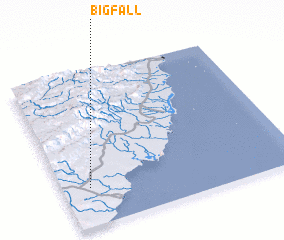 3d view of Big Fall