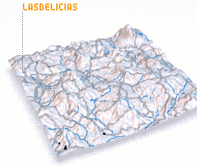 3d view of Las Delicias