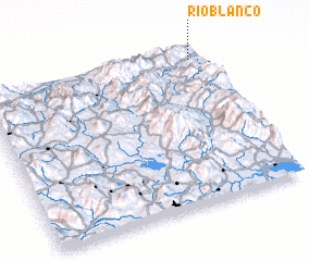 3d view of Río Blanco