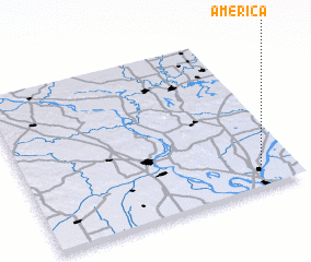 3d view of America