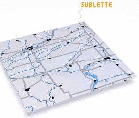 3d view of Sublette