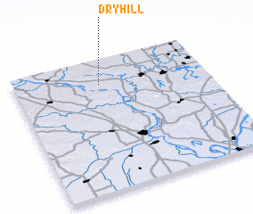 3d view of Dry Hill