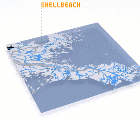 3d view of Shell Beach