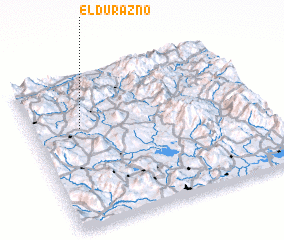 3d view of El Durazno
