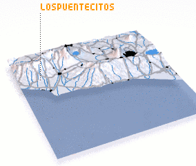 3d view of Los Puentecitos