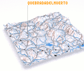 3d view of Quebrada del Muerto