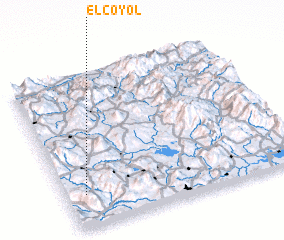 3d view of El Coyol