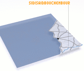 3d view of Sidi Saïd Bou Chembour