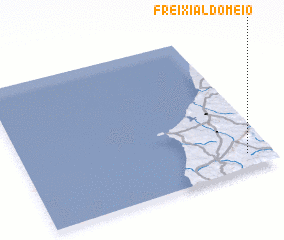 3d view of Freixial do Meio