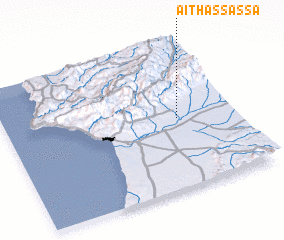 3d view of Aït Hassassa