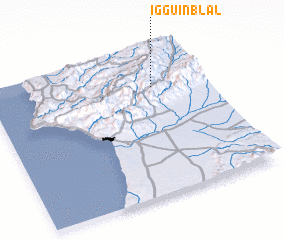 3d view of Iggui n'Blal