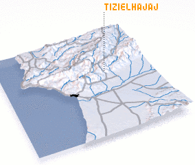 3d view of Tizi el Hajaj