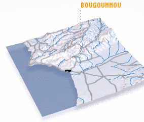 3d view of Bou Goummou