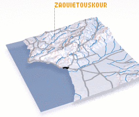 3d view of Zaouiet Ouskour