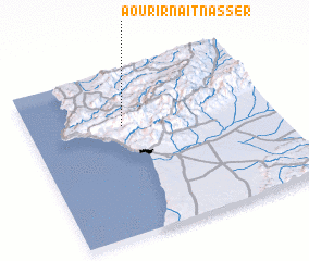 3d view of Aourir n Aït Nasser