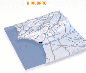 3d view of Akoubane