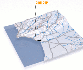 3d view of Aourir