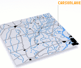 3d view of Carson Lake