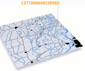 3d view of Cottonwood Corner