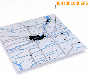 3d view of Newton Corners