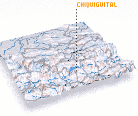 3d view of Chiquigüital