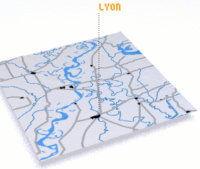 3d view of Lyon