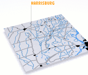 3d view of Harrisburg