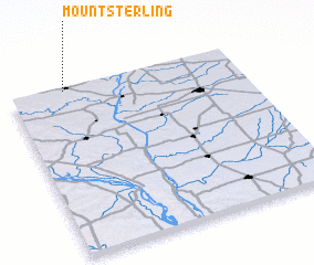 3d view of Mount Sterling