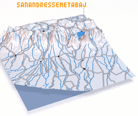 3d view of San Andrés Semetabaj