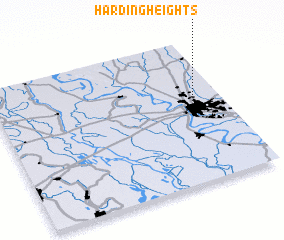 3d view of Harding Heights