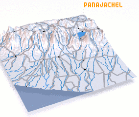 3d view of Panajachel