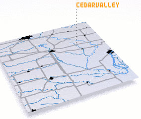 3d view of Cedar Valley
