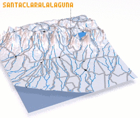 3d view of Santa Clara La Laguna