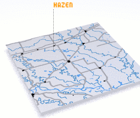 3d view of Hazen