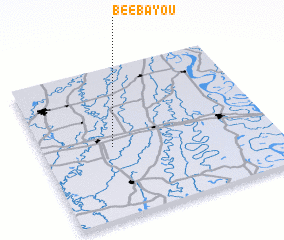 3d view of Bee Bayou