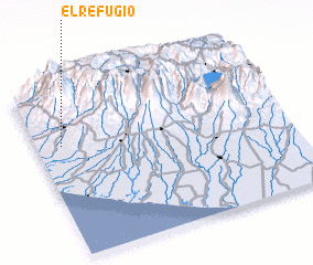 3d view of El Refugio