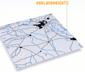3d view of Oakland Heights